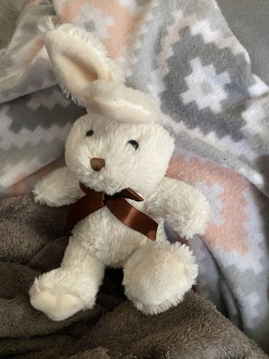 Chocolate-scented Cute Bunny Soft White - Brown Bow for Sale in Ithaca, NY