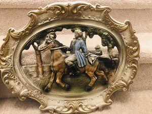 Set of two antique 3D french porcelain portrait for Sale in Manassas, VA