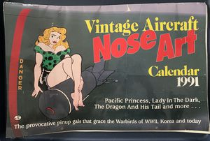 Vintage Aircraft Noseart Calendar for Sale in Miami Beach, FL