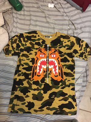 Authentic Rare 1st Camo Tiger Shark Bape T-shirt for Sale in Los Angeles, CA