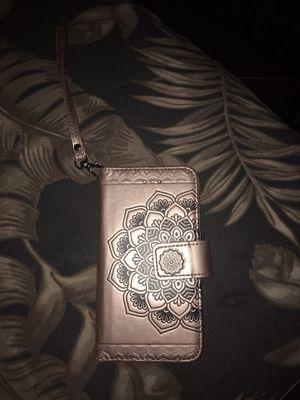 iPhone 7/7plus Flip-fold Hard Designer Case w/ clip on wrist strap for Sale in Vancouver, WA