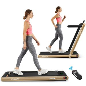 Superfit 2.25HP 2 in 1 Folding Treadmill W/Bluetooth Speaker Remote Control Home Gym for Sale in Irvine, CA