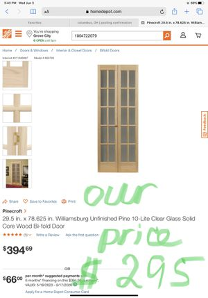 Wood bi-fold door $295 for Sale in Grove City, OH