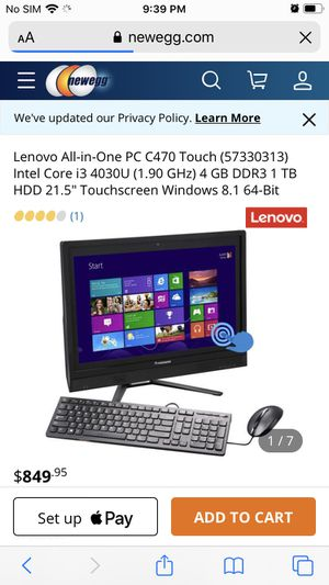 Lenovo 3in1 computer with excessories for Sale in Endicott, NY