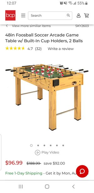 48in foosball soccer table for Sale in Columbus, OH