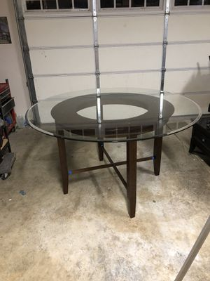 5' glass top pub-style kitchen table and 8 chairs for Sale in Cottonwood, CA