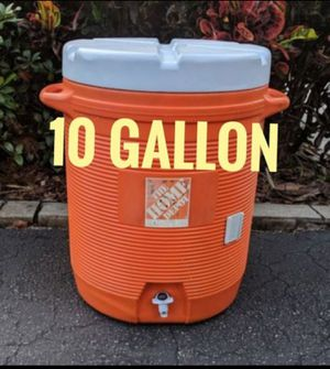 10 Gallon Water Cooler Job Site Sports Team Heavy Duty Construction Igloo Rubbermaid for Sale in Hollywood, FL