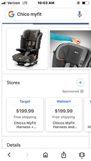 Chico myfit car seat for Sale in Nashville, TN