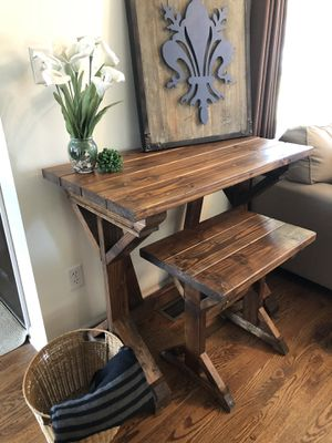 Farmhouse desk with bench for Sale in Mount Vernon, OH