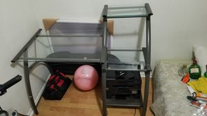Office glass desk for Sale in Los Angeles, CA