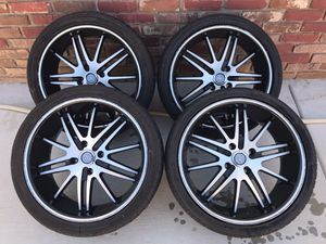 """18"""" Black Machined Velocity Rims with Tires for Sale in Santa Maria, CA"""