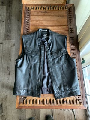 Fulmer Motorcycle Club Style Leather Vest for Sale in Garden Grove, CA