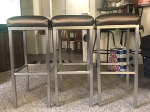 Bar Stools 3 for $100 for Sale in Las Vegas, NV