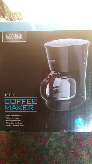 Living solutions coffee maker (10 cups) for Sale in Seattle, WA