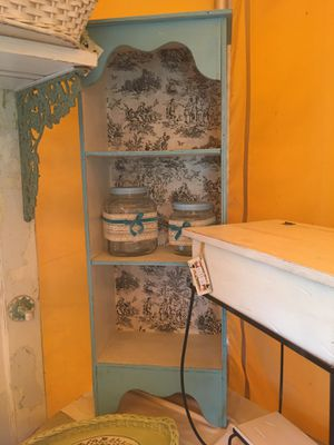 Shabby chic teal bookcase for Sale in Puyallup, WA