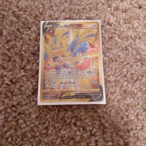 Zacian V Gold Rare Pokemon Card In Sleeve for Sale in Phoenix, AZ