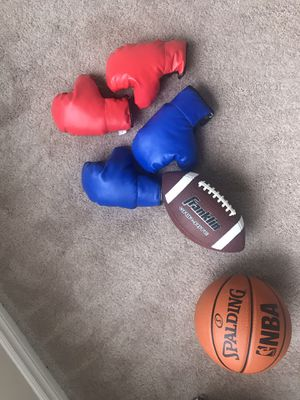 Basketball , kids gloves, football for Sale in Pontiac, MI