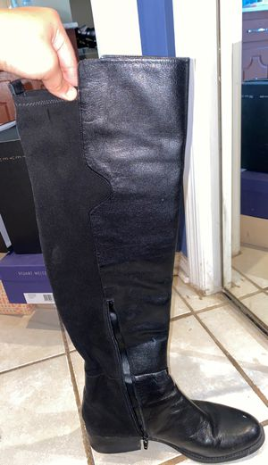 Black leather long boot for Sale in Nashville, TN