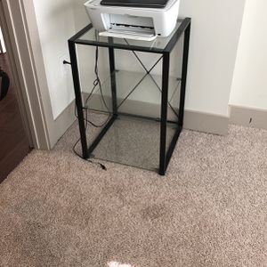 Glass Stand / Printer Table for Sale in Alpharetta, GA