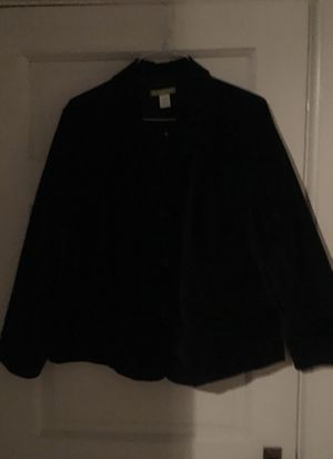 Women's sz 20W Sigrid Olsen black velvet jacket for Sale in Concord, MA