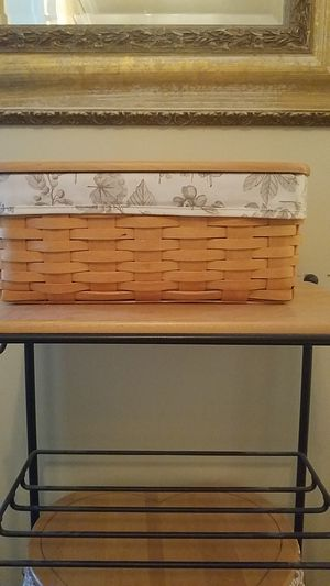 2001 Longaberger Long Tissue Basket for Sale in North Wales, PA