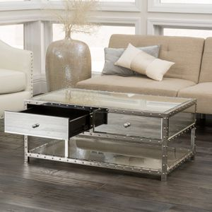 Mirror and chrome coffee table for Sale in Buffalo, NY