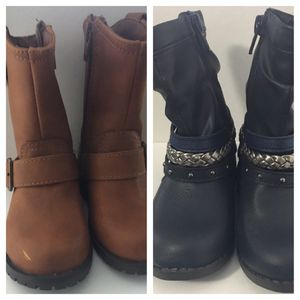 Baby Girls Boots Size 6 New (2 Pair) for Sale in Littleton, MA