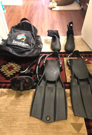 RK3 large fins and Hollis M-1 Scuba mask for Sale for sale  Chula Vista, CA