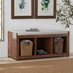 Better Homes and Gardens 3-Cube Organizer Storage Bench, Mahogany for Sale in Indianapolis,  IN