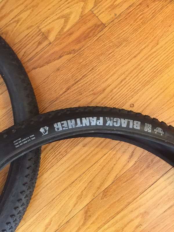 """26"""" Vredestein Black Panther and UST Spotted Cat tire"""