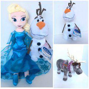 "Disney Frozen Soft Dolls 20"" Elsa, Olaf, Sven for Sale in Woodstock, GA"