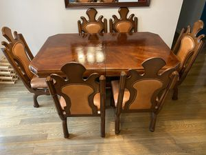 Dinning table and antique chairs for Sale in Alexandria, VA