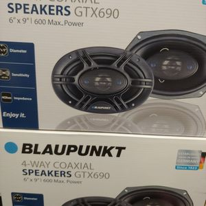 Car speakers : ( total 2 PAIRS ) Blaupunkt 6×9 4 way 600 watts car speakers new for Sale in South Gate, CA