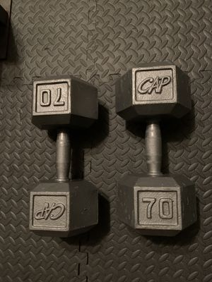 70lb Hex Dumbbell Set for Sale in Georgetown, TX
