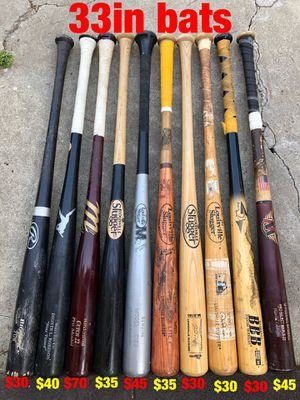 Baseball wood bats , gloves,cleats ,jersey,hats,bags etc... for Sale in Los Angeles, CA