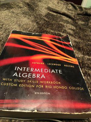 Intermediate algebra book for Sale in South Gate, CA