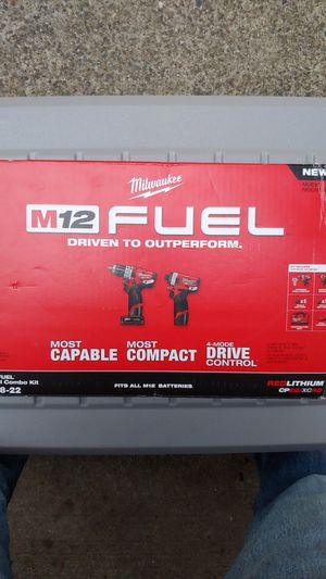 Milwaukee Fuel M12 Drill / Impact combo set for Sale in Lacey, WA