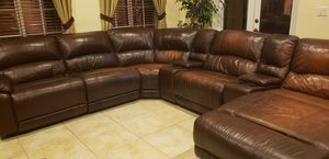 Leather sectional sofa for Sale in Miami, FL