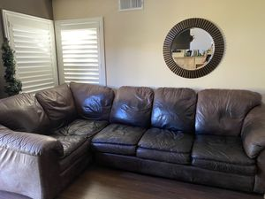 Arizona Leather Sectional for Sale in Anaheim, CA