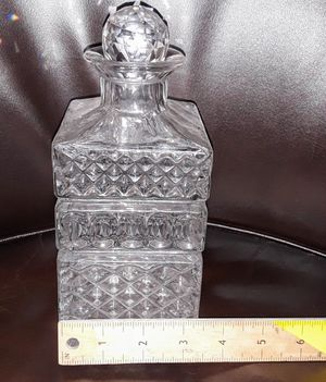 Vintage Chrystal Square Liquor Decanter for Sale in Aurora, CO
