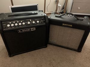 Guitar amps 1 Line6 Brand amp and 1 Kustom Brand amp. OBO for Sale in Anaheim, CA