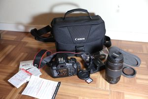 Canon rebel T6 brand new bundle ( 2 lenses, under warranty ) for Sale in Garland, TX