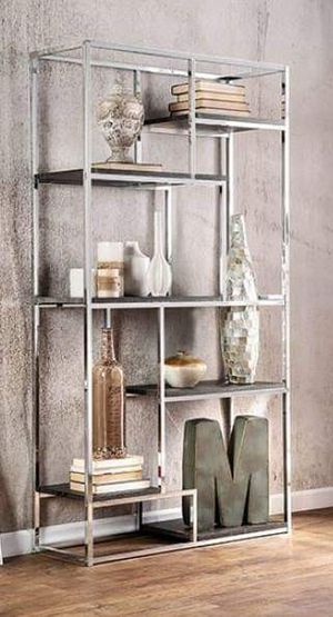 OPEN SHELVING METAL CONSTRUCTION 70'S STYLE BOOKCASE for Sale in Riverside, CA