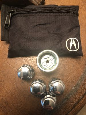 New Acura MDX Lug Nuts (4) and Key with pouch Genuine Acura Parts for Sale in Mission Viejo, CA