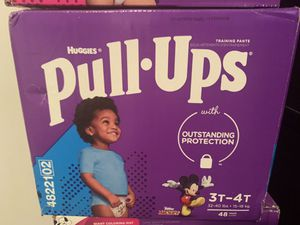Huggies pull ups 3t-4t 48 count for Sale in Austin, TX