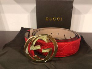 Gucci Red Guccisima Belt *Authentic* for Sale in Queens, NY