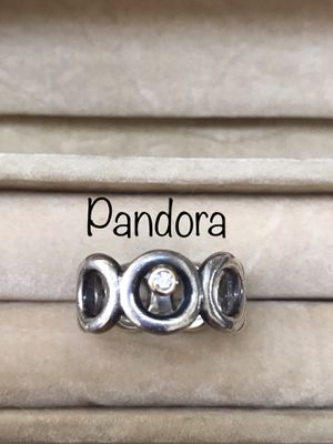 48d662938 Retired Rare Old HTF Pandora Big Circles with Diamond and Yellow Gold Ring, size  6