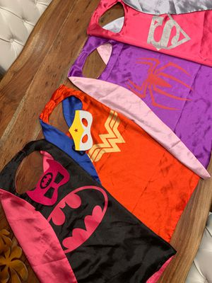 Kid costumes superhero 🦸‍♀️ capes for Sale in Vancouver, WA