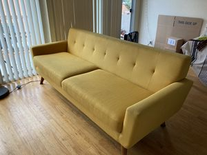 Big yellow modern couch for Sale in Oakland, CA