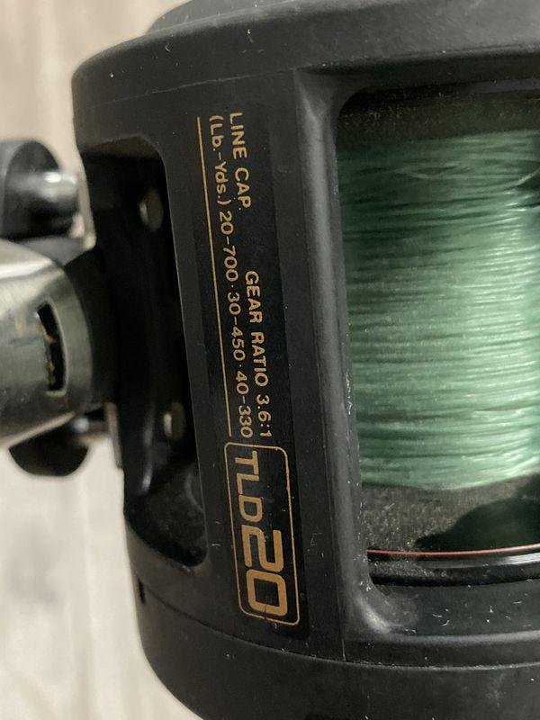 """Penn Slammer 7'0"""" 17-40lb Casting Rod + Shimano TLD20 Lever Drag Fishing Reel"""